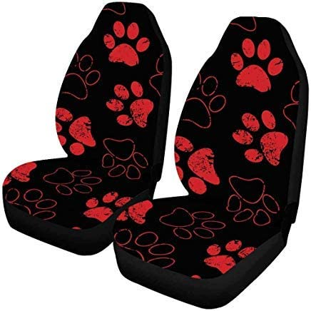 INTERESTPRINT Auto Seat Covers 2 pc,Universal fit for Vehicles, Sedan and Jeep