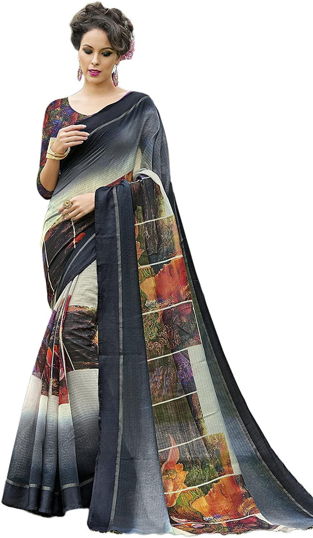 Indian Designer Ethnic Bollywood Traditional Tussar Silk Saree Sari S3469 Grey