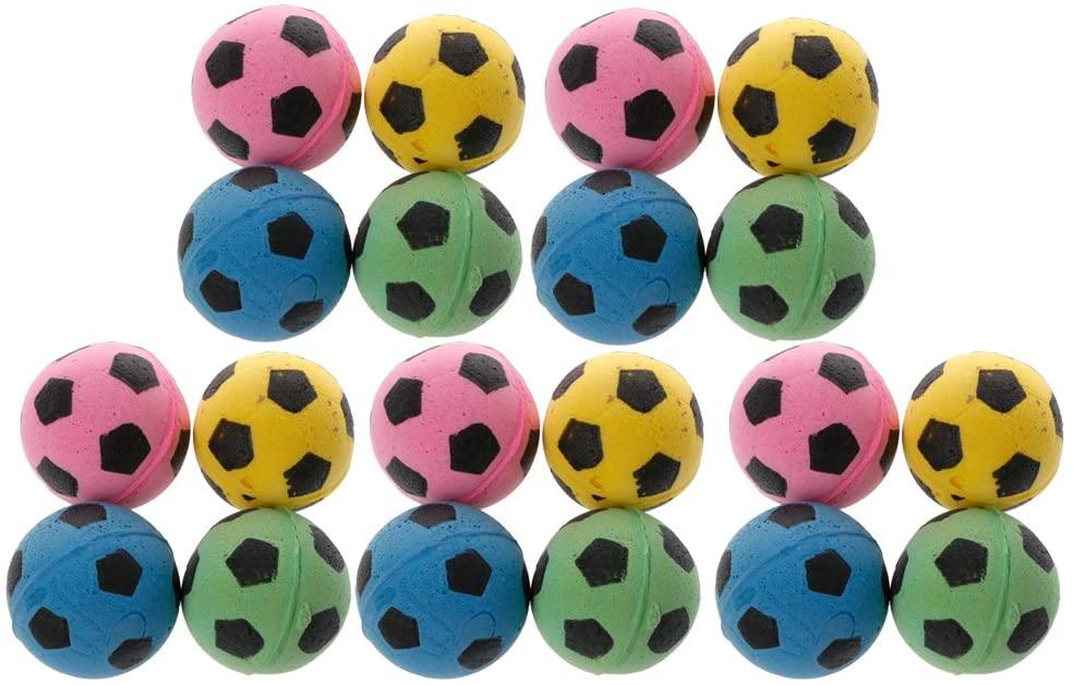 yiianger 20PCS Non-Noise Cat EVA Ball Soft Foam Soccer Play Balls for Cat Scratching Toy