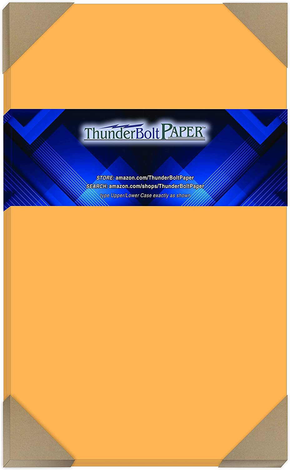 100 Bright Gold 65lb Cover|Card Paper - 8.5 X 14 Inches Legal & Menu Size - 65 lb/Pound Light Weight Cardstock - Quality Printable Smooth Surface for Bright Colorful Results