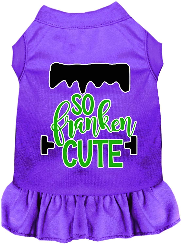 Mirage Pet Product So Franken Cute Screen Print Dog Dress Purple XXXL
