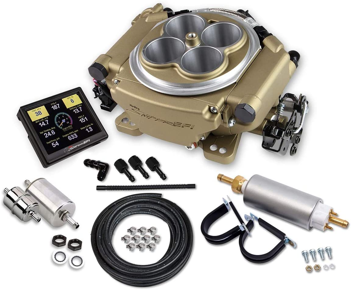 NEW HOLLEY SNIPER EFI SELF-TUNING MASTER KIT,800 CFM,GOLD,4BBL,FUEL INJECTION CONVERSION