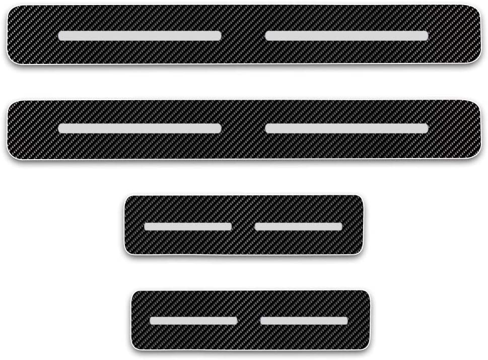 4D Carbon Fiber Vinyl Sticker for Nissan Titan 2004 to 2014 Car Door Sill Protectors Door Entry Scuff Plates Stickers Auto Accessories 4PCS