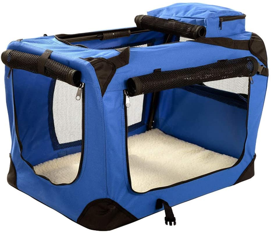 Pet Carrier Dog Carrier Soft Sided Pet Travel Carrier for Cats, Small Dogs, Kittens Or Puppies, Collapsible,Durable,Airline Approved, for Plane/car/Train Travel (956565cm)