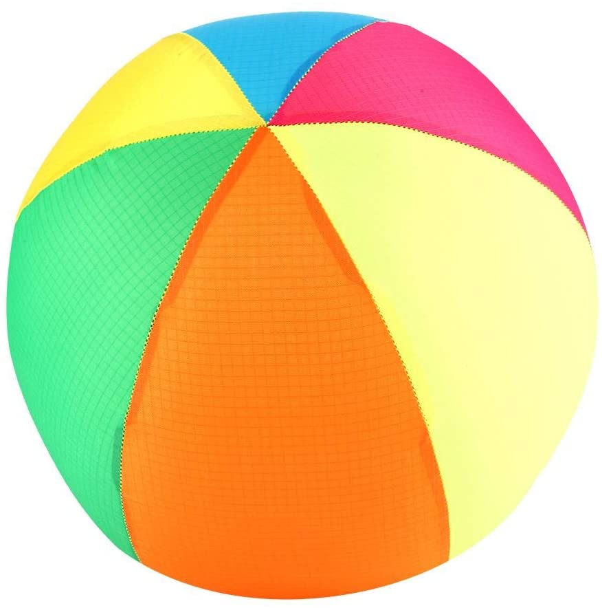 VGEBY1 Inflatable Beach Ball, Inflatable Cloth Beach Ball Toy Sports Outdoor Toy for Kids Children(Rainbow)