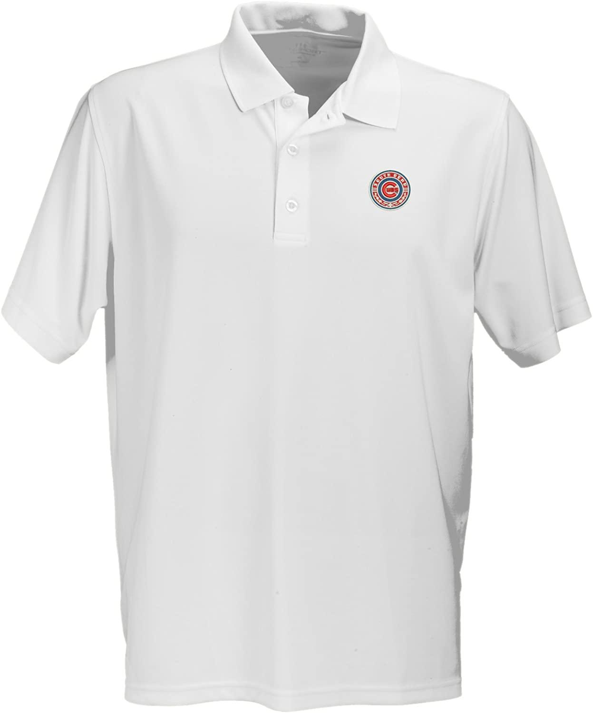 Vantage Apparel Minor League Baseball South Bend Cubs Men's Performance Mesh Polo Shirt, X-Large, White