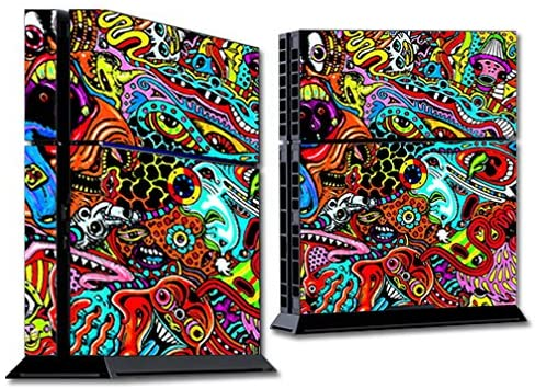 MightySkins Skin Compatible with Sony PS4 Console - Acid Trippy | Protective, Durable, and Unique Vinyl Decal wrap Cover | Easy to Apply, Remove, and Change Styles | Made in The USA