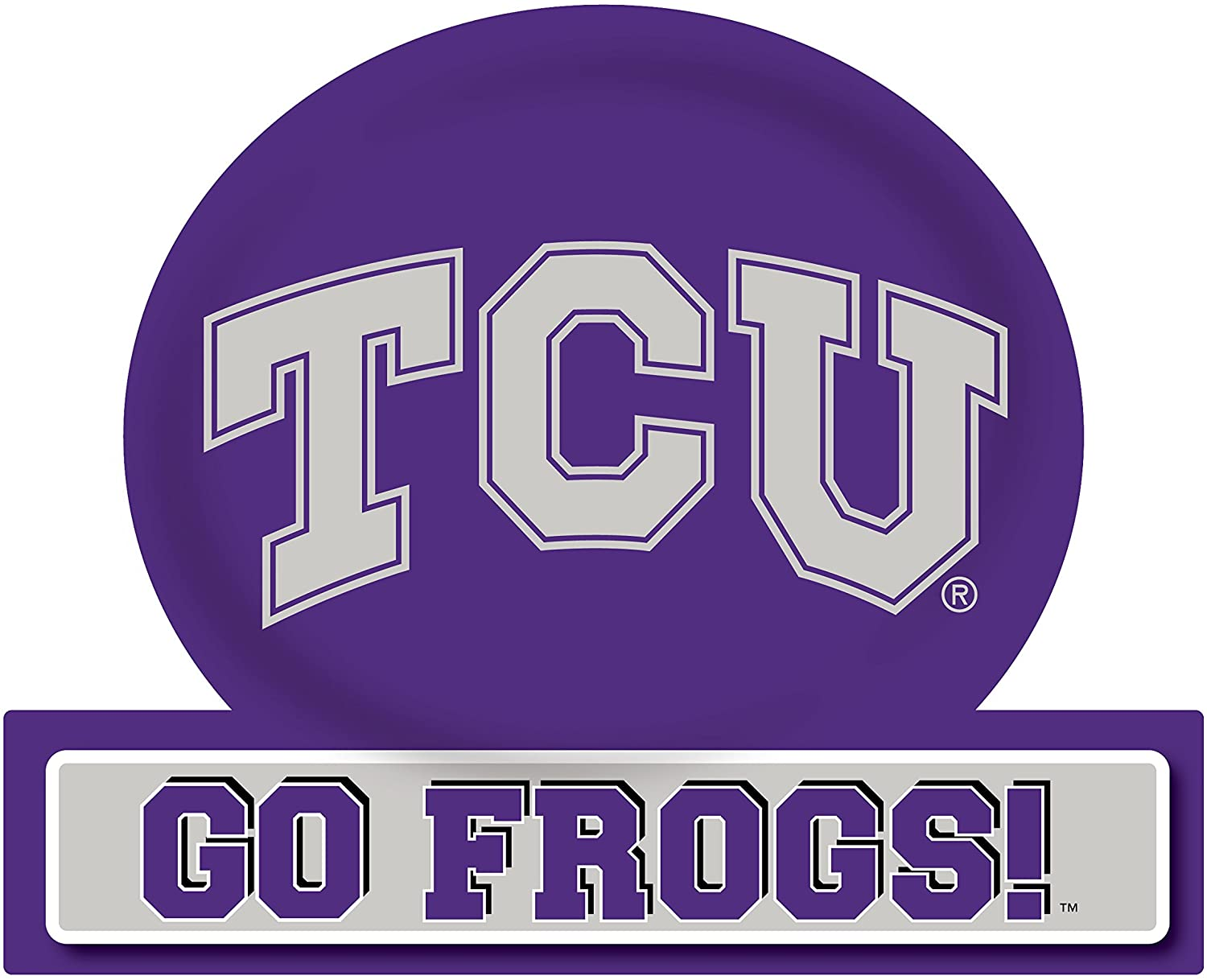 R and R Imports TCU Horned Frogs Jumbo Tailgate Magnet