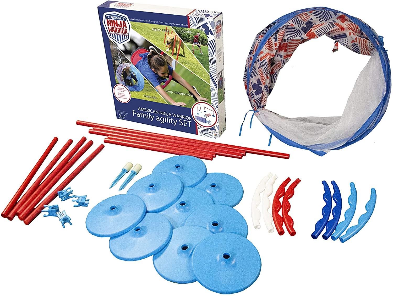AnW American Ninja Warrior - Family Agility Set | Backyard Obstacle Course | Family Obstacle Course | Pet Obstacle Set