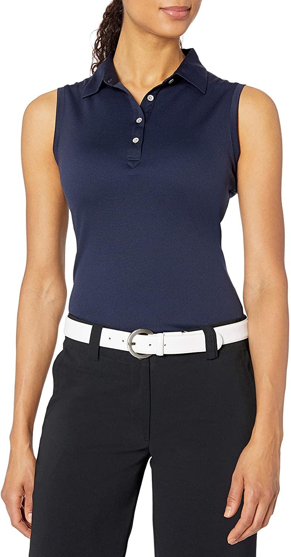 Cutter & Buck Women's Moisture Wicking, UPF 50+, Sleeveless Clare Polo Shirt, Liberty Navy, M