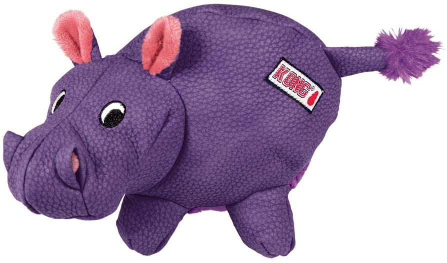 KONG Phatz Hippo Dog Toy, Small