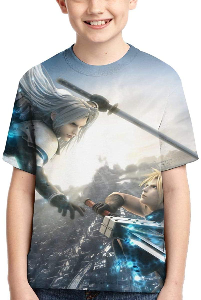 JamesAFlannigan Youth Girls Boys Final Fantasy 3D Printed Short Sleeve Fashion Youth Tee T-Shirt
