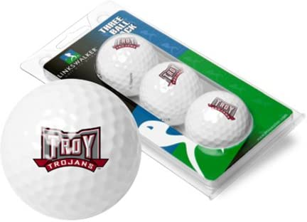 LinksWalker Troy State Trojans 3 Golf Ball Sleeve (Set of 3)