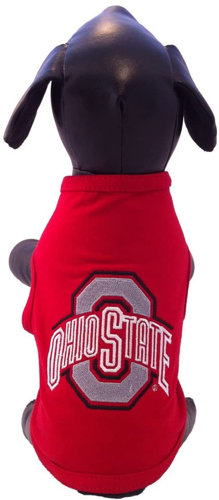 NCAA Ohio State Buckeyes Cotton Lycra Dog Tank Top, Small