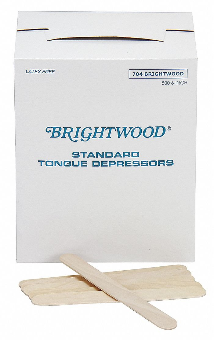 Tongue Depressor, 6 in. L, PK500