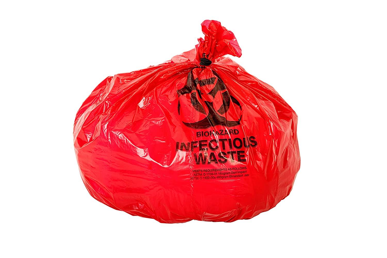 Oakridge OSHA Approved Biohazard Safety Bags (25 Gallon) (50 Bags)