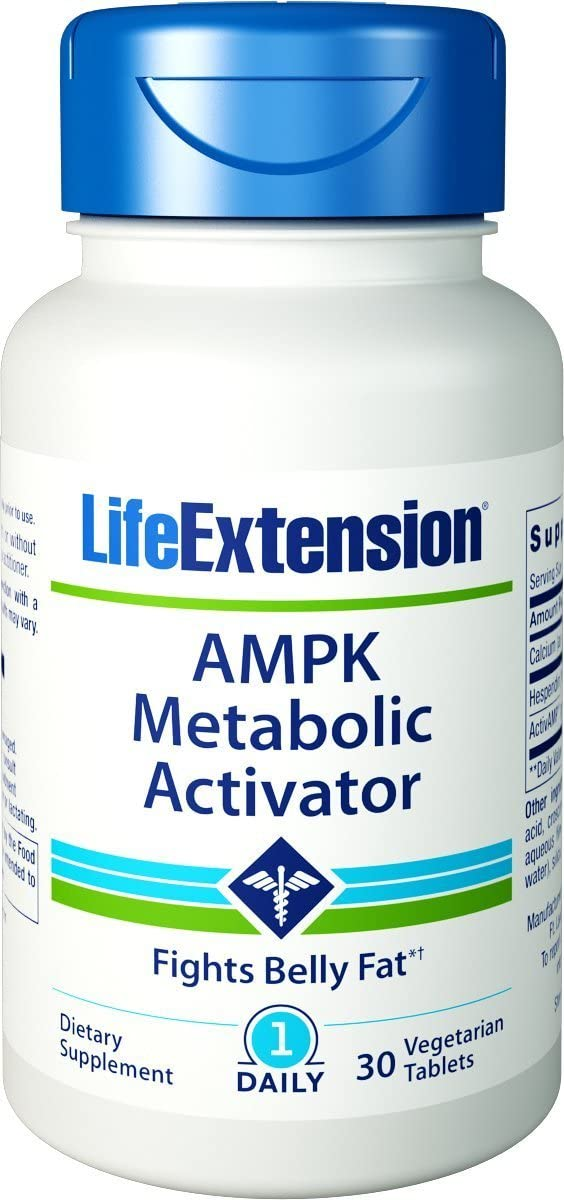 Life Extension AMPK Metabolic Activator 30 vegetarian tablets - 3 Pack