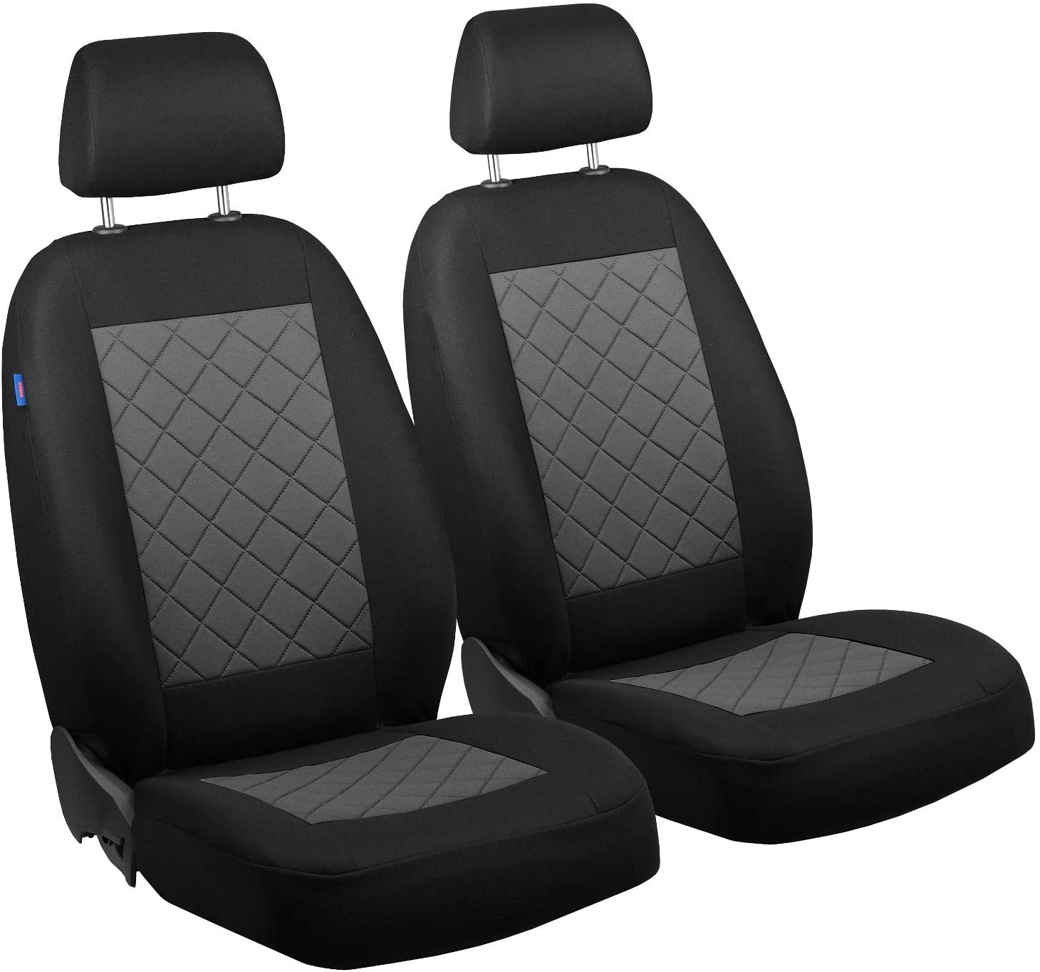 Zakschneider Car seat Covers for Ix35 - Front Seats - Color Premium Black with Grey Quilted Squares