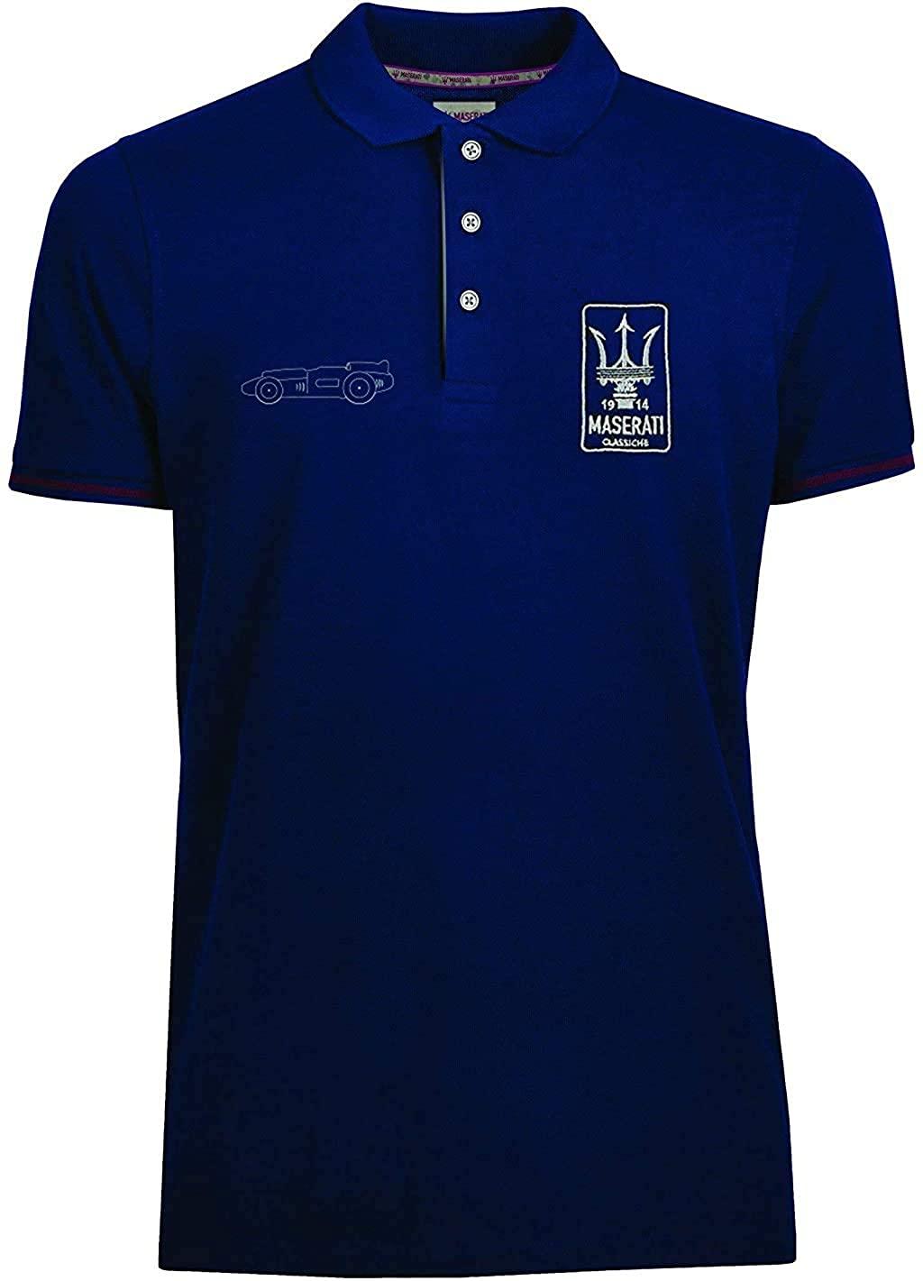 Maserati Classiche Men's Eldorado Polo Shirt Blue