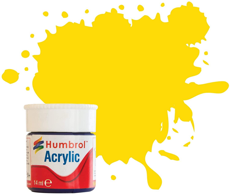 Humbrol AB0069 No 69 Yellow - Gloss Acrylic (12ml)
