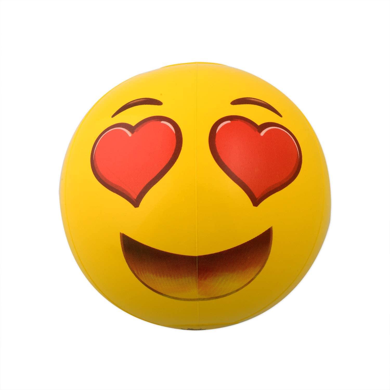 Coconut Float Emoji Beach Ball Heart Eyes - Love Your Pool All Summer with The Loveliest Emoji! 18 Inch Emoji Beach Ball