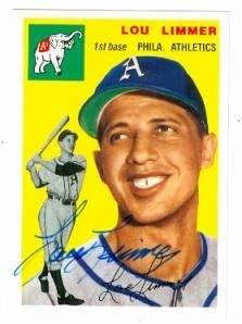 Lou Limmer autographed baseball card (Philadelphia Athletics 67) 1994 1954 Topps Archives #232