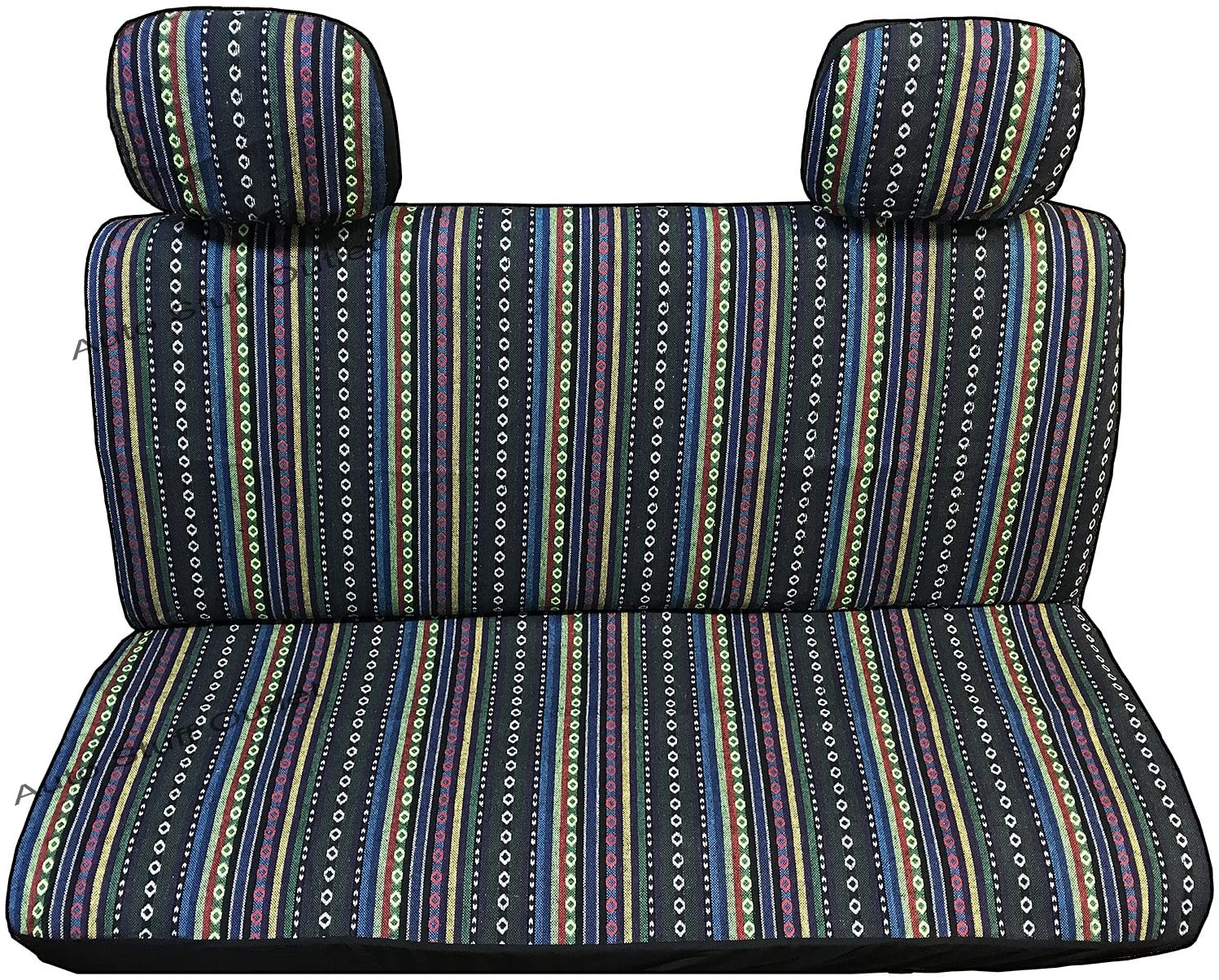 4 Pc Universal Cabo Saddle Mexican Blanket Bench Truck Seat Cover