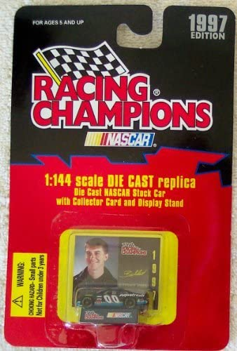 Racing Champions 1997 Nascar Buckshot Jones #00 1:144 Scale Die Cast Replica Stock Car with Collector Card and Display Stand