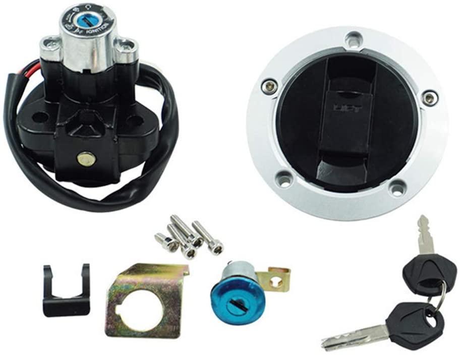 Ignition Switch Lock Fuel Gas Cap For Suzuki SFV650 GSF1200 GSF1250 SFV650 SV650 SV1000 DL650 DL1000 V-Strom Fuel Tank Cap