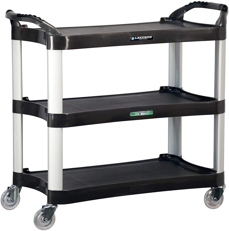 Lakeside 2512 Utility Cart, Plastic, 3 Shelves, 500 lb. Capacity