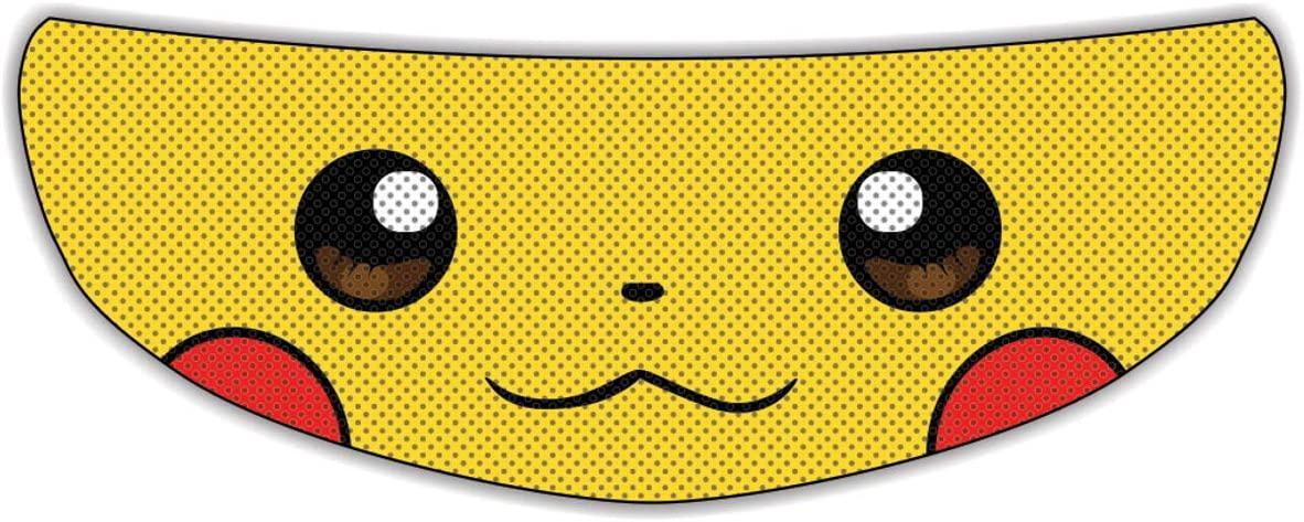 Pikachu Universal Perforated Motorcycle Helmet Visor Tint Shield Sticker Decal