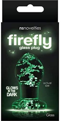 NS Novelties Firefly Glass Plug Medium, Clear, Clear