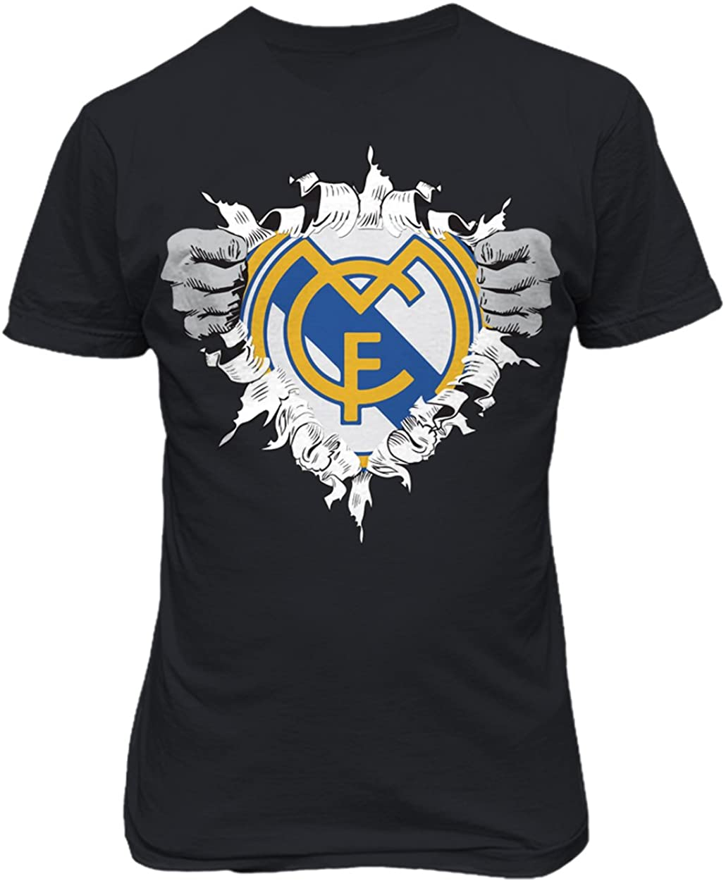 SMARTZONE Real Madrid Club de Futbol Super Hero Logo Soccer Football Futbol T Shirt