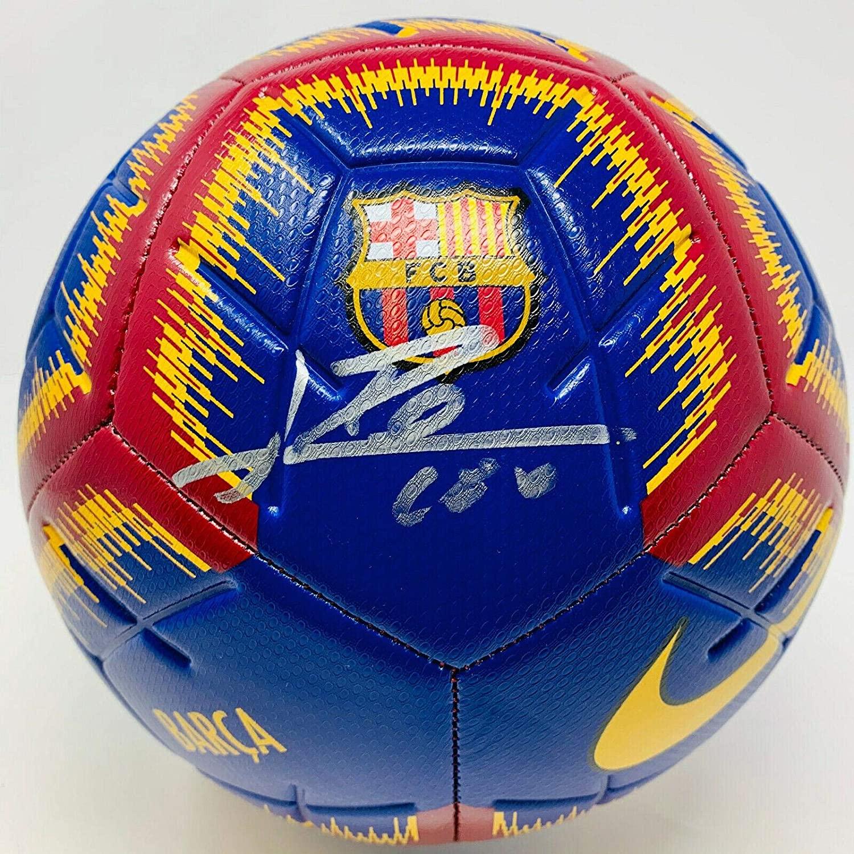Barcelona Lionel Messi Signed Nike Soccer Ball Leo Shock - Beckett BAS COA - Beckett Authentication - Autographed Soccer Balls
