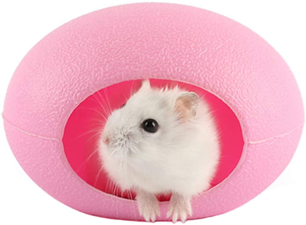 Yueunishi Cute Hamster Cage, High-Toughness PP Plastic, Hamster Rabbit Small Animal Cage Home