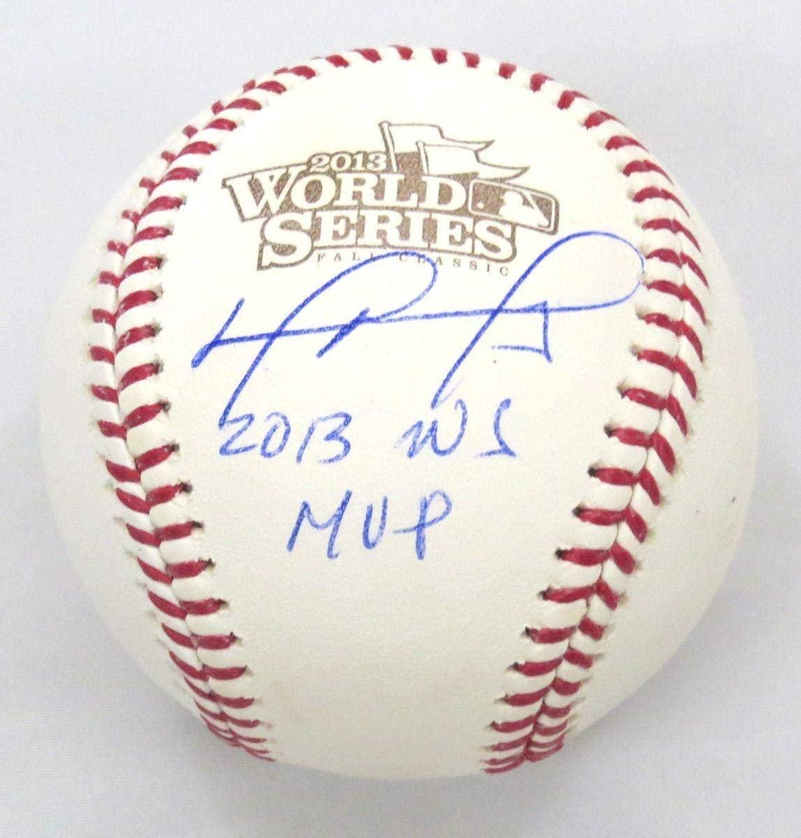 Autographed David Ortiz Baseball - 2013 World Series W 2013 WS MVP Beckett Witnessed - Autographed Baseballs