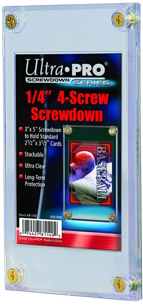 Ultra Pro 1/4 Screwdown Recessed Trading Card Holder ( Packaging May Vary )