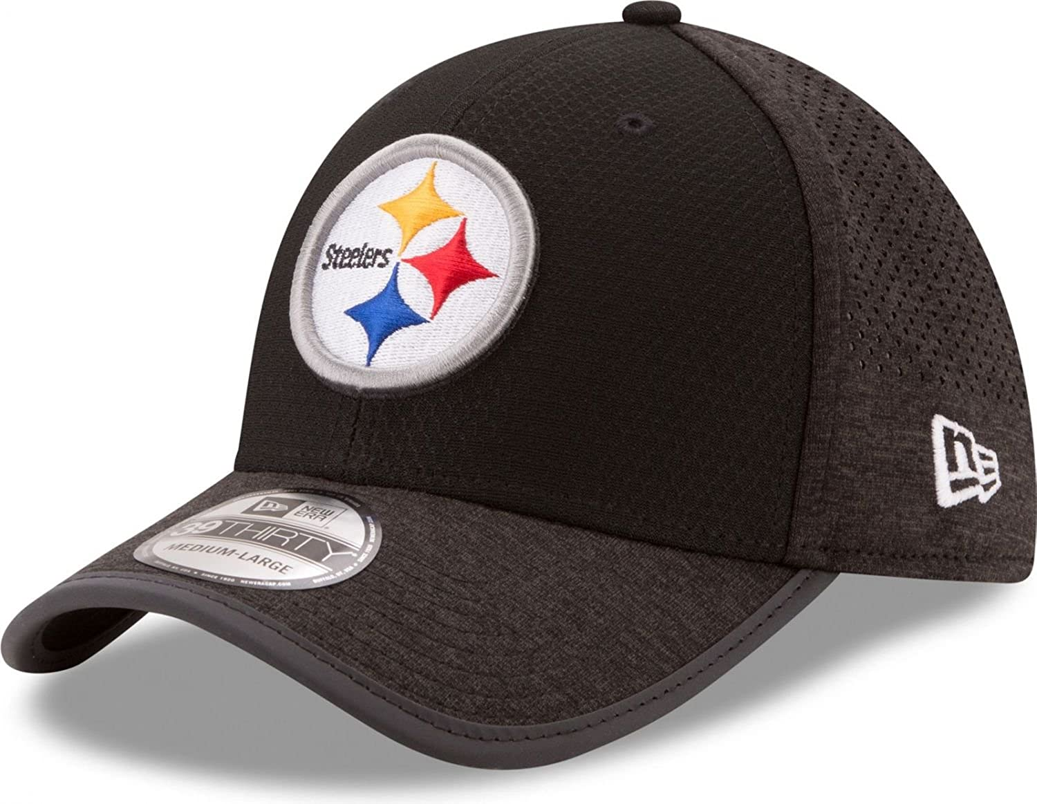 New Era Men's Pittsburgh Steelers 3930 Onfield Training Hat Black/Reflective Silver Size