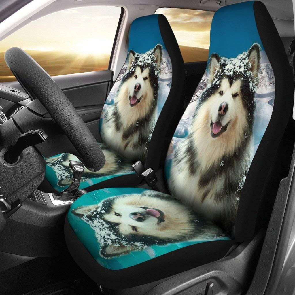 wonderful pet lover Alaskan Malamute Print Car Seat Covers