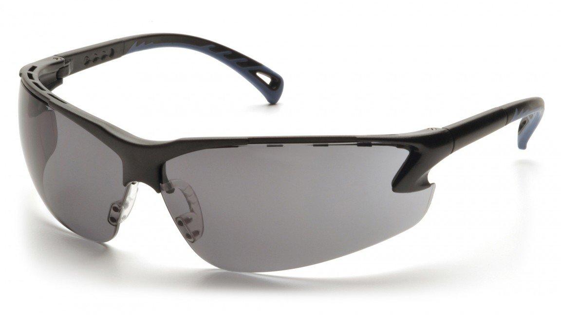 Pyramex SB5720D Venture 3 Safety Glasses Black Frame w/Gray Lens (12 Pair)