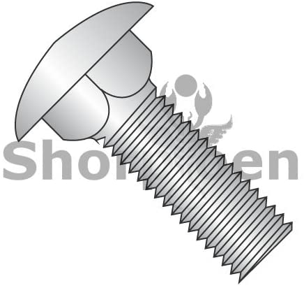 3/8-16X2 1/4 Carriage Bolt 18 8 Stainless Steel Fully Threaded - Box Quantity 200 by Shorpioen BC-3736C188