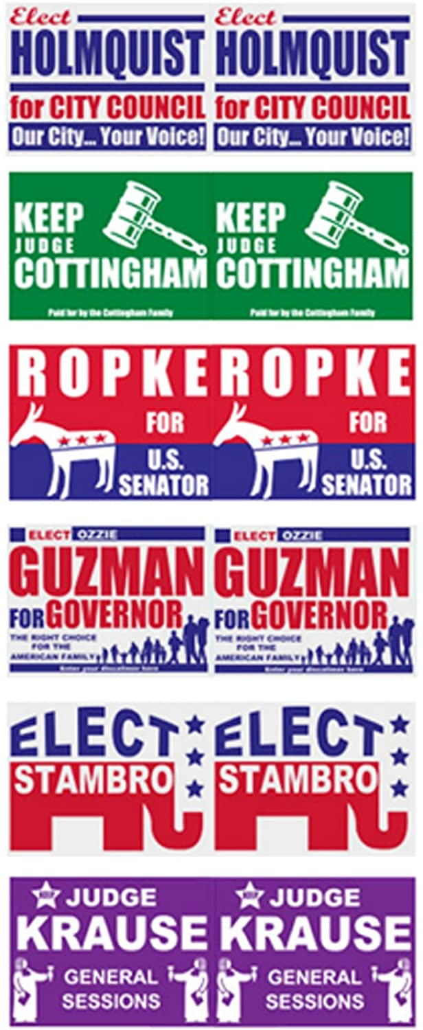 Three Inches Under 1:25 scale model Political Yard Signs