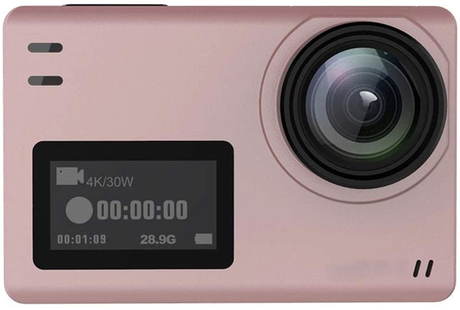 Mihaojianbing Pink, Dual Screen, Waterproof Outdoor Sports Camera, Diving and Cycling Hd Sports DV, EIS Anti-Shake,170 Degrees Wide Angle, Size 62.5x41x28.8mm HD Imaging (Color : Pink)
