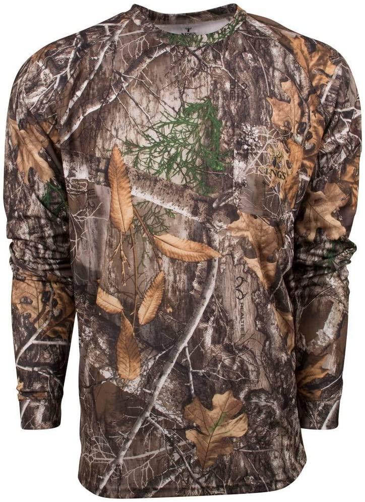 King's Camo Hunter Series Long Sleeve Shirt Realtree Edge