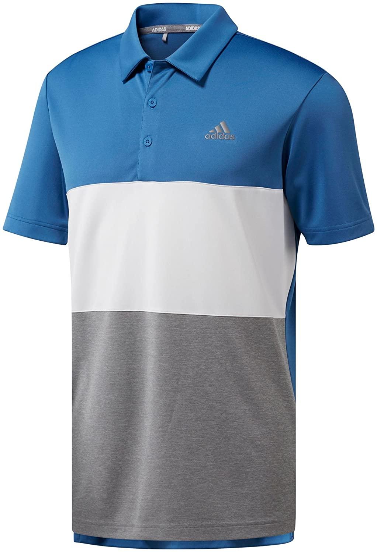 adidas Mens Advantage Wide Colorblock Golf Polo