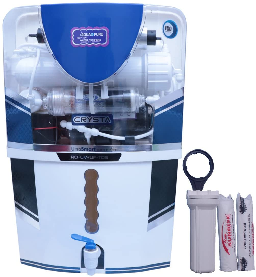AQUA Z PURE 14Stage Ro+Uv+Uf+Tds Controller+Mineral Water Purifier