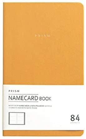 INDIGO Prism Name Card Book - Business Card Holder, Organizer, Instax Mini Photo Album (Yellow)