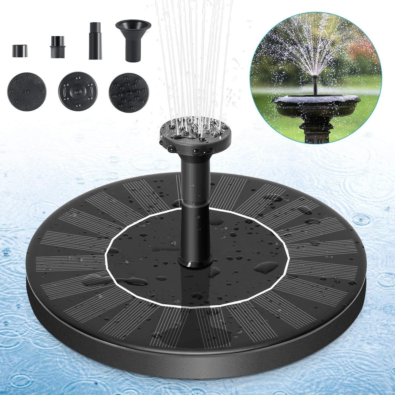 PETBROO Solar Fountain Pump, Solar Powered Bird Bath Fountain Pump 1.4W Solar Panel Kit Water Pump
