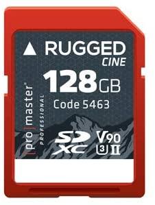 Promaster SDXC 128GB Rugged CINE UHS-II Memory Card V90