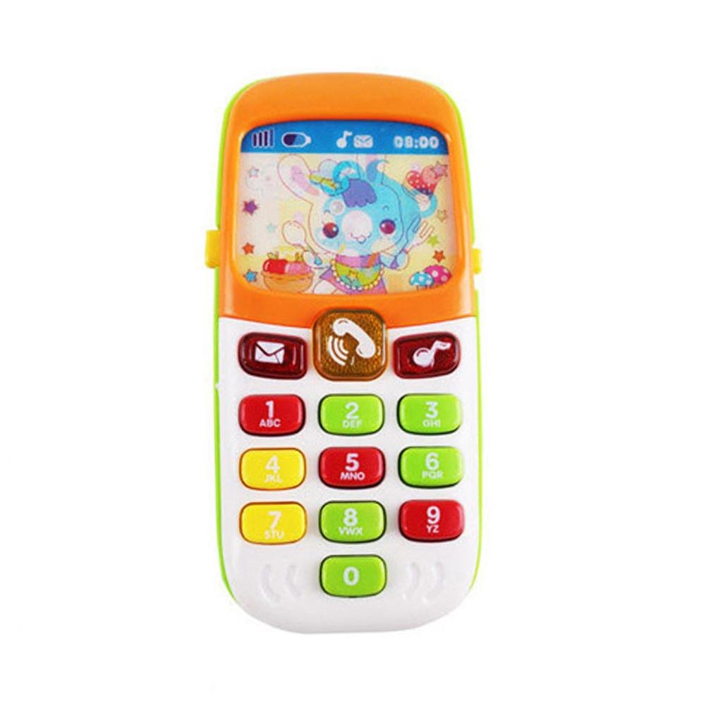 IMSHI Smart 3D Music Mobile Phone Toy Educational Learning Cellphone with Cute Cartoons Screens for Babies Toddlers Boys Girls 6+ Months
